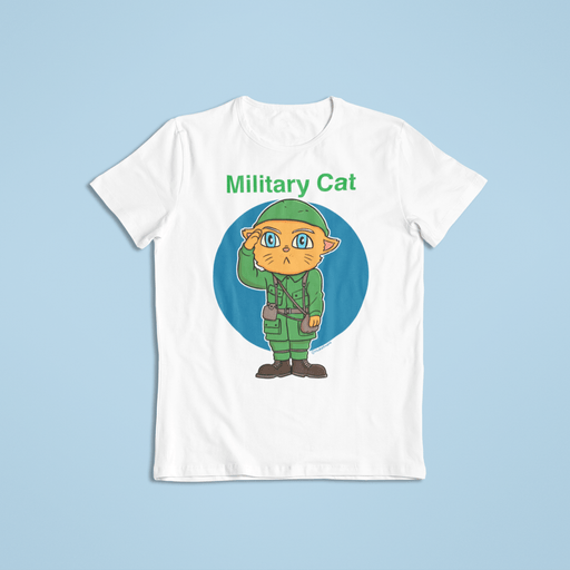 Milatary cat Sublimation Dryfit Shirt