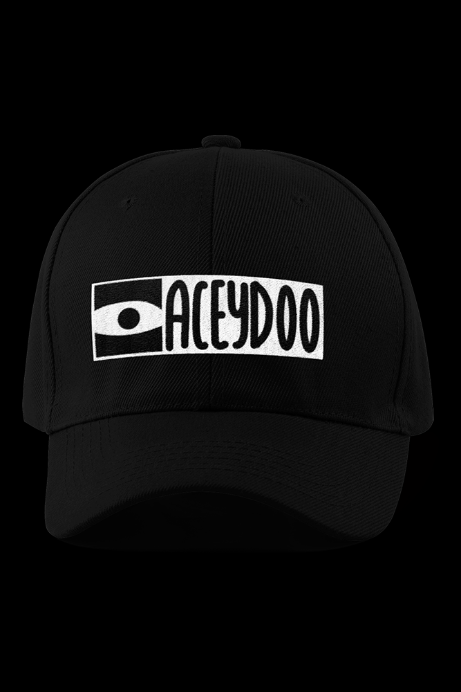 Aceydoo Black Embroidered Cap