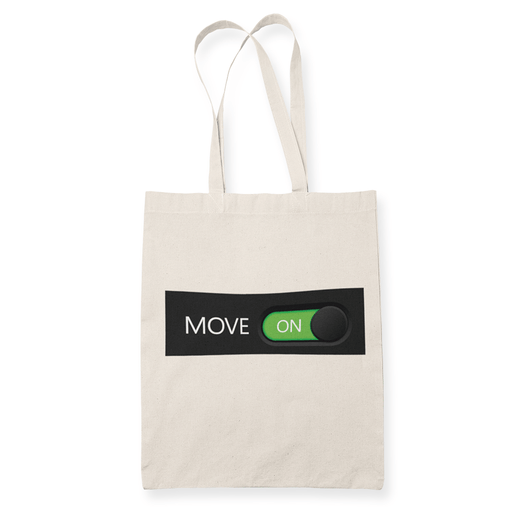 Move on Sublimation Canvass Tote Bag
