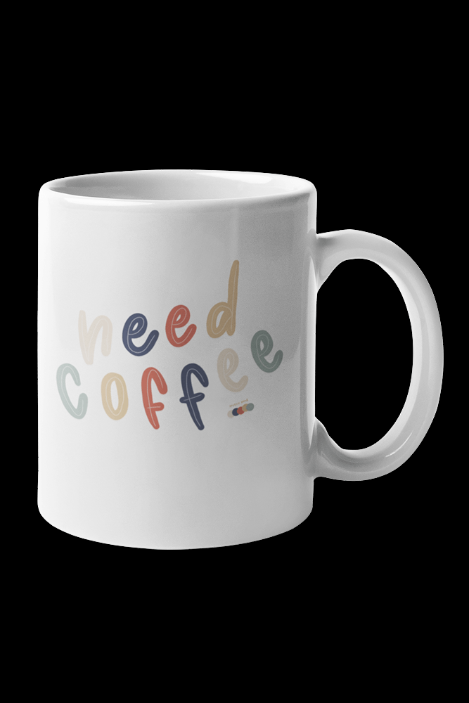 Need Coffee Sublimation White Mug