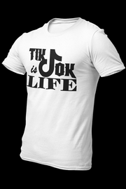 TIKTOK IS LIFE White Cotton Shirt w/back logo