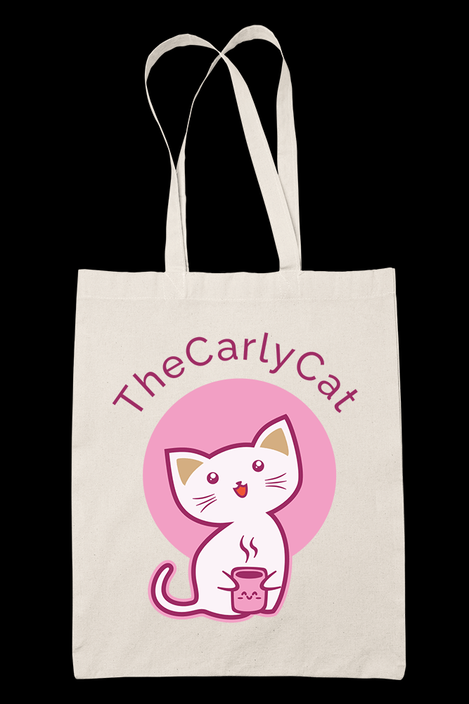 CarlyCat Sublimation Canvass Tote Bag