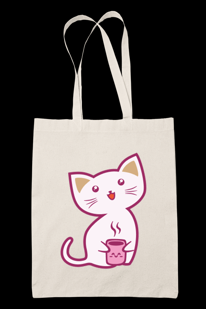 CarlyCat V2 Sublimation Canvass Tote Bag