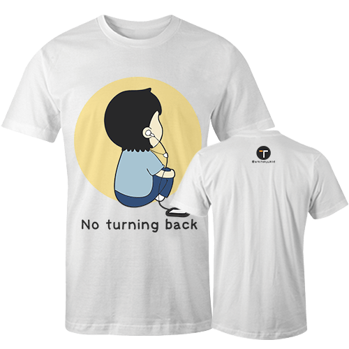 No Turning Back Sublimation Dryfit Shirt With Logo At The Back