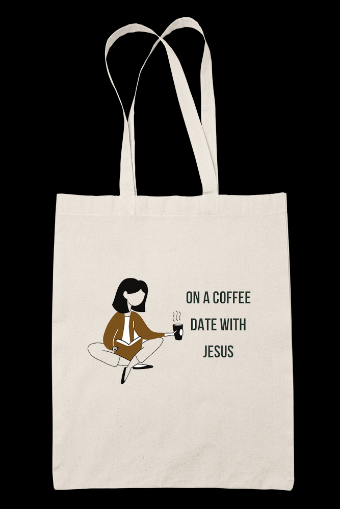 On A Coffee Sublimation Canvass Tote Bag