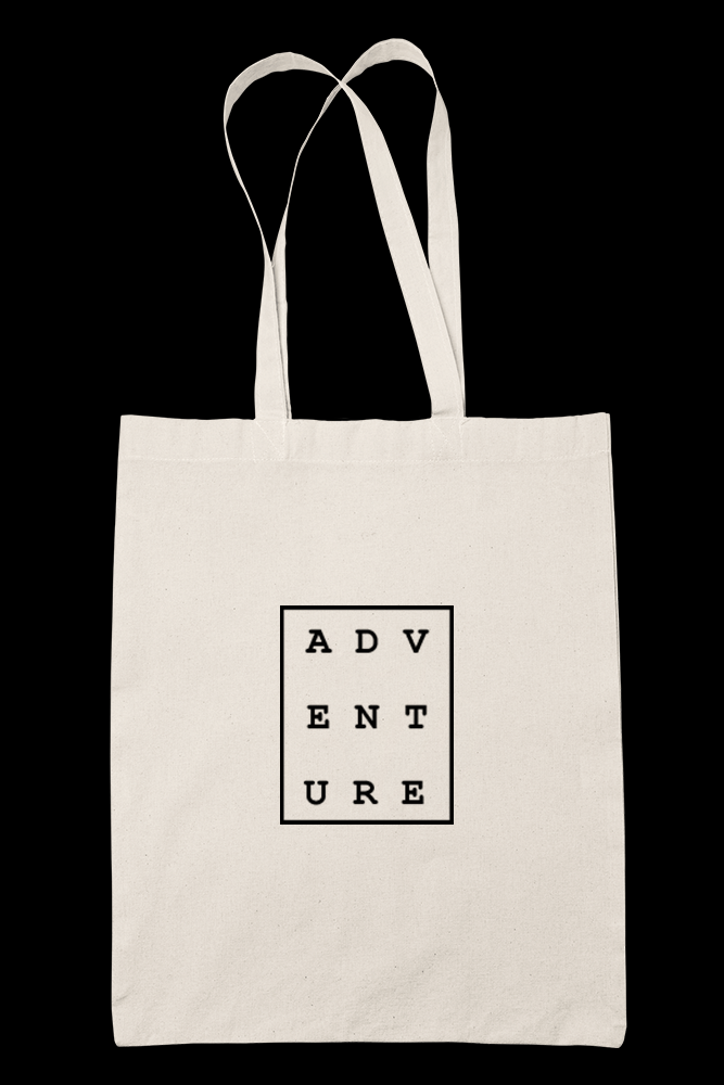 ADVENTURE Sublimation Canvass Tote Bag
