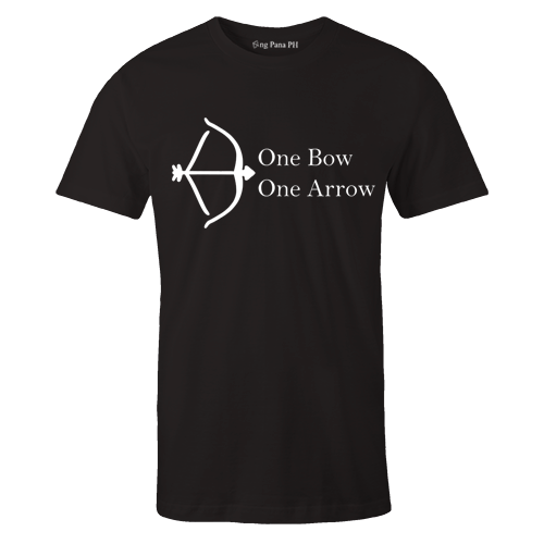 One Bow Black Cotton Shirt