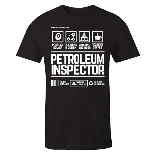 Petroleum Inspector Handling Black Cotton Shirt