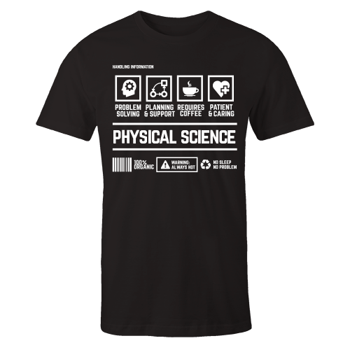 Physical Science Handling Black Cotton Shirt