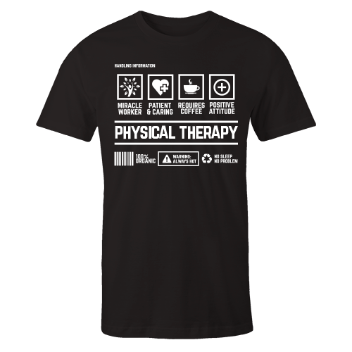 Physical Therapy Handling Black Cotton Shirt