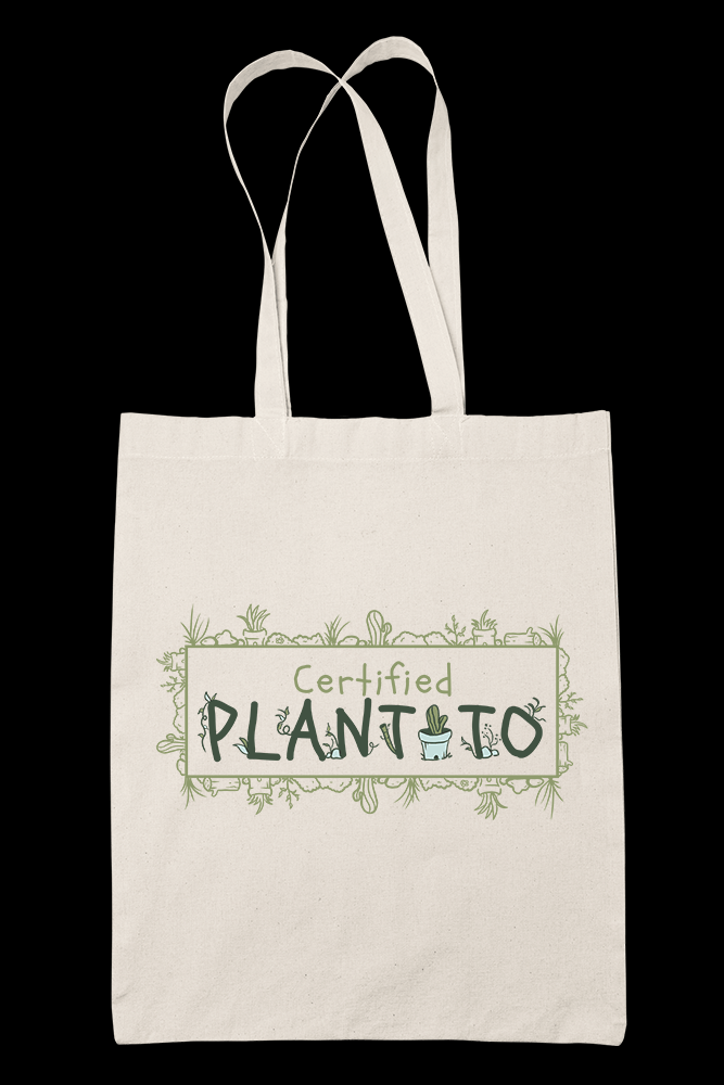 Certified Plantito Sublimation Canvass Tote Bag