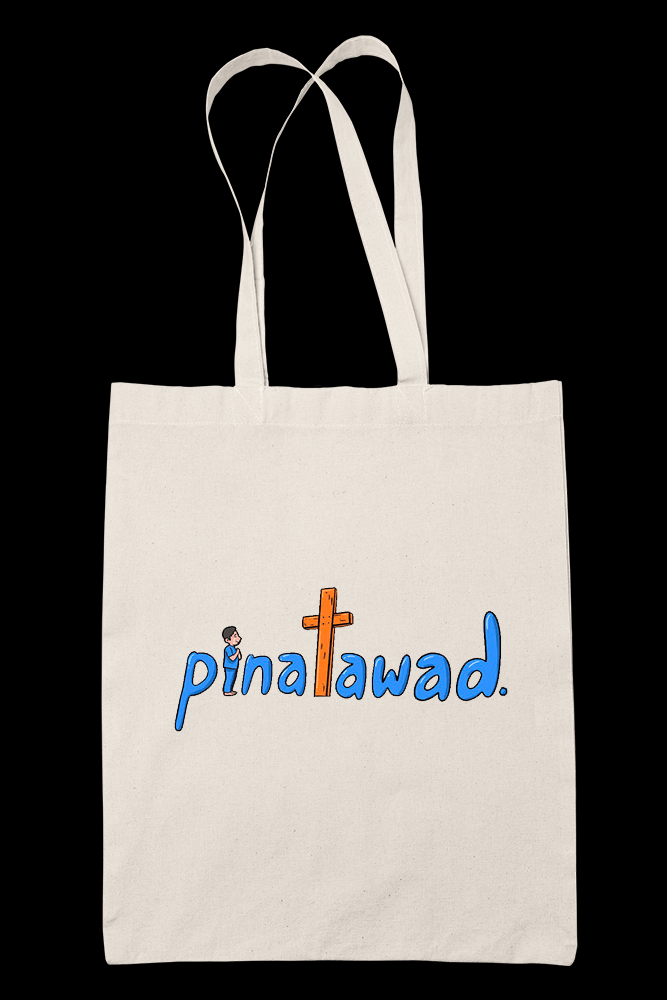 Pinatawad Male Sublimation Canvass Tote Bag