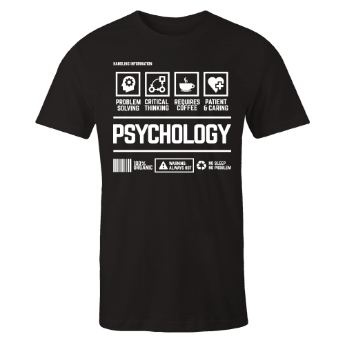 Psychology Handling Black Cotton Shirt