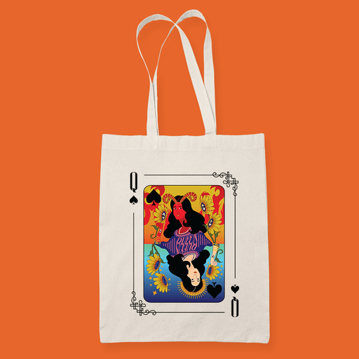 Queen Sublimation Canvass Tote Bag