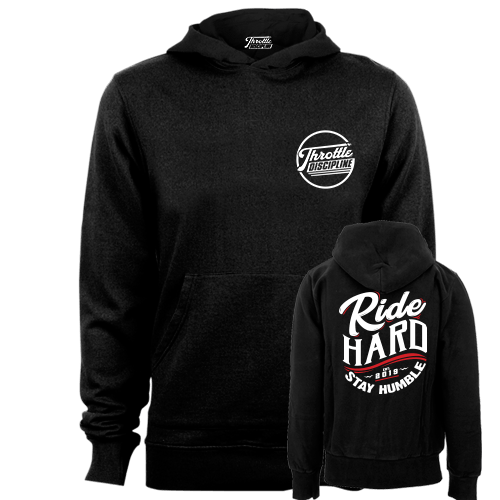 Ride Hard Stay Humble Black Hoodie