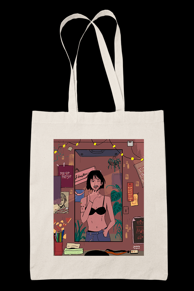 Room Sublimation Canvass Tote Bag