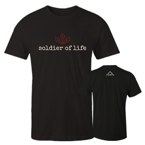 Soldier of Life Black Cotton Shirt w/Logo