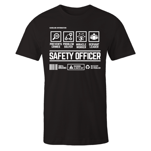 Safety Officer Handling Black Cotton Shirt