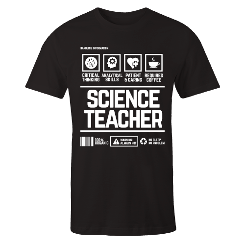 Science Teacher Handling Black Cotton Shirt