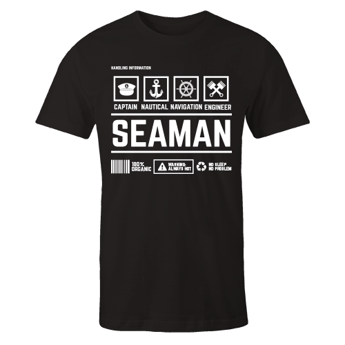 Seaman Handling Black Cotton Shirt