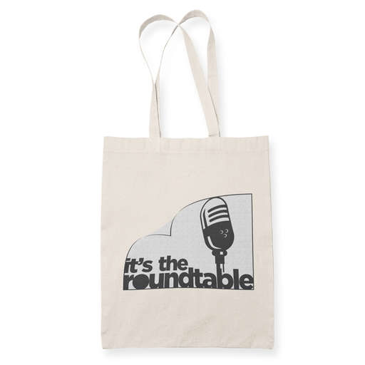 Stripped Logo Sublimation Canvass Tote Bag