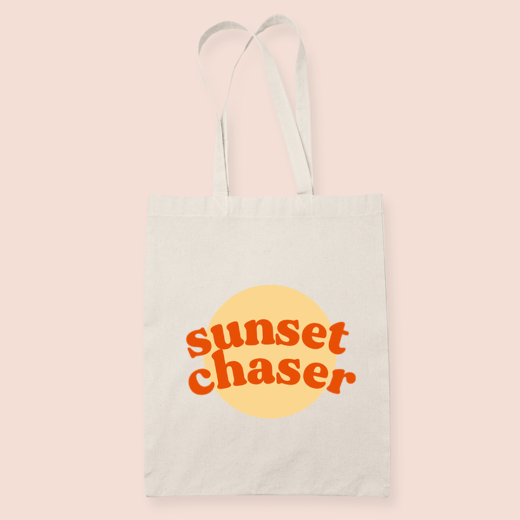 coffee & midnights sunset chaser mustard sublimation canvas tote bag