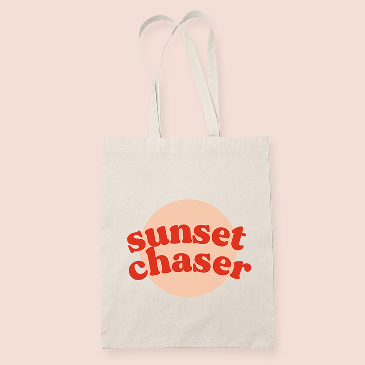 coffee & midnights sunset chaser peach sublimation canvas tote bag