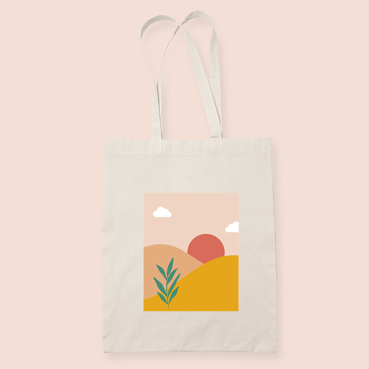 coffee & midnights sunset sublimation canvas tote bag