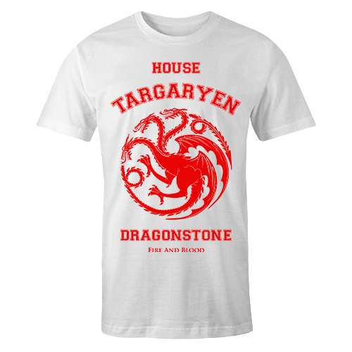 House of Targaryen White Cotton Shirt