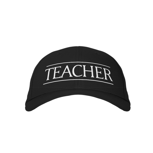 Teacher v2 Black Embroidered Cap