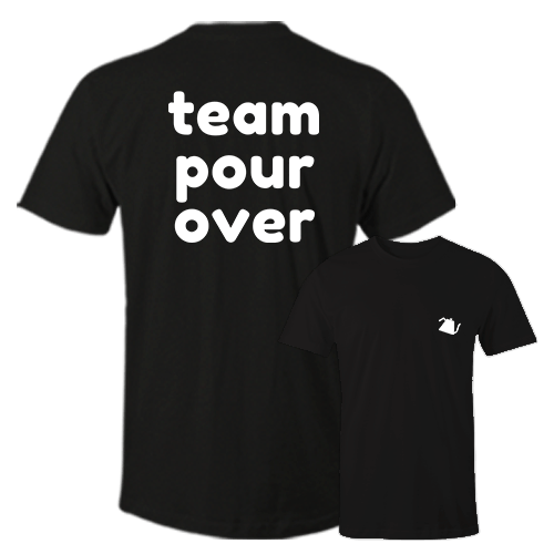 Team pour over Black Cotton Shirt Pocket Size Print
