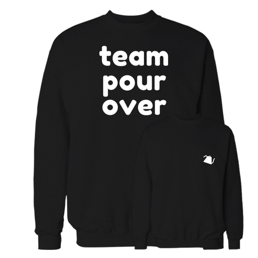 Team pour over Black Cotton Sweatshirt Pocket size print