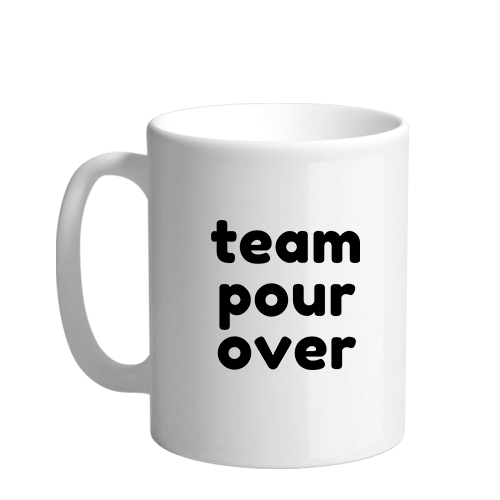 team pour over Sublimation White Mug