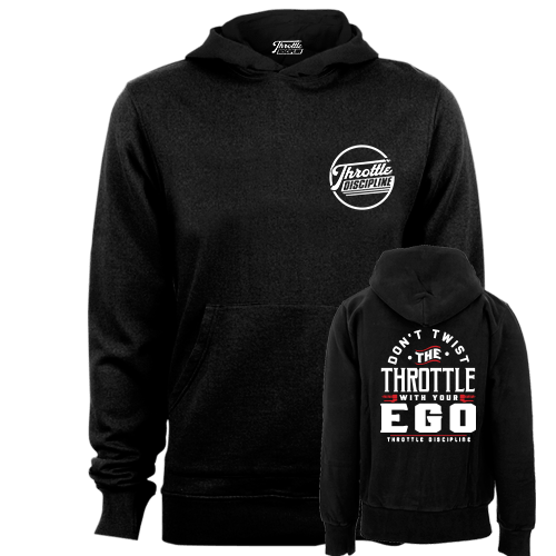 Throttle Ego Black Hoodie