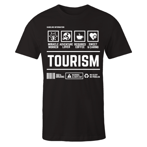 Tourism Handling Black Cotton Shirt