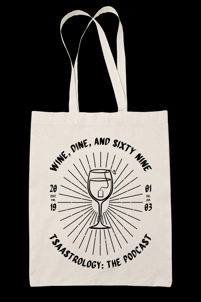 Wine Dine Sublimation Canvass Tote Bag
