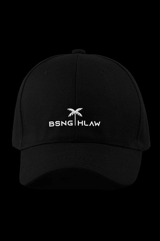 BSNG HLAW Logo Black Embroidered Cap