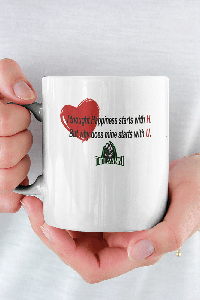 Happiness Sublimation White Mug