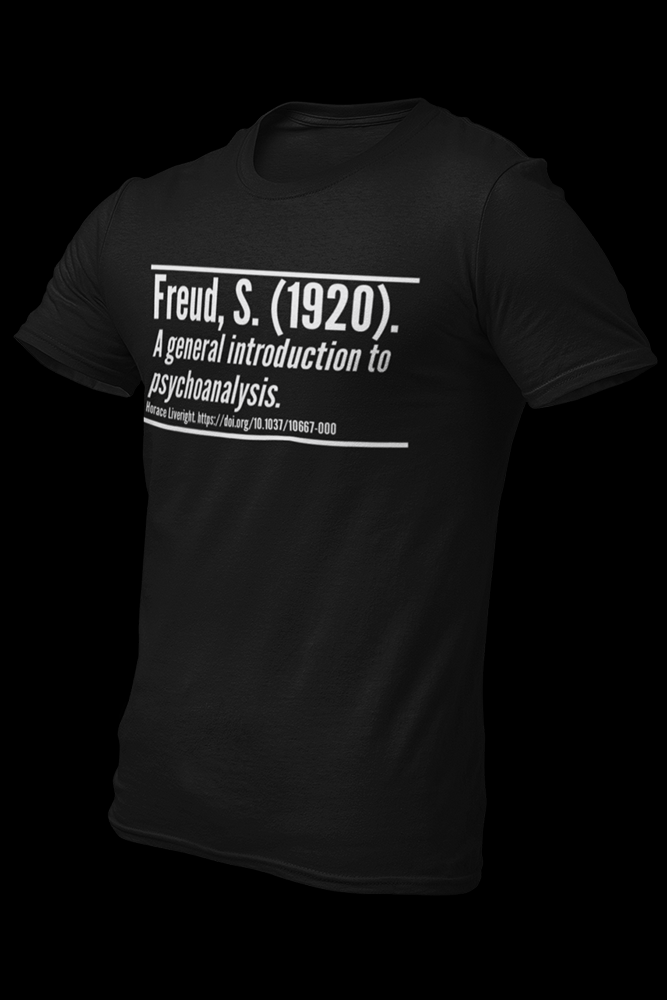freud citation Black Cotton Shirt