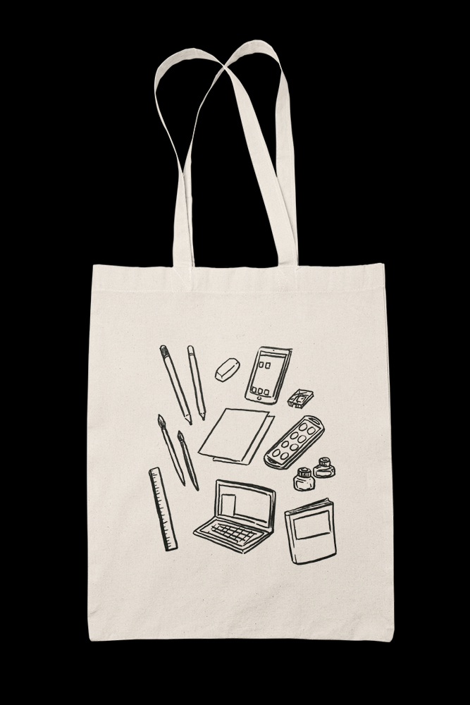 Tools lines Sublimation Canvass Tote Bag