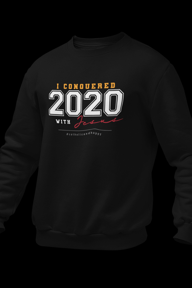 2020 Black Cotton Sweatshirt w/Back Logo