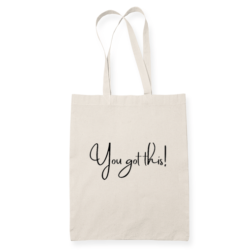 You Got This Sublimation Canvass Tote Bag