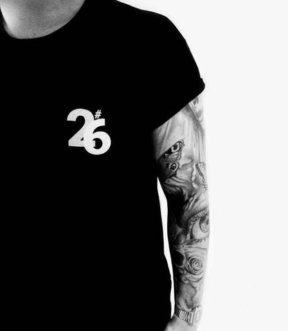TwentiSix Unisex Black Crew Neck T-Shirt