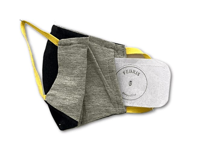 Febris Saker Premium Mask (Grey Yellow)