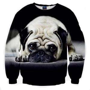 Adorable Pug Sweater - The Hoodie Hut