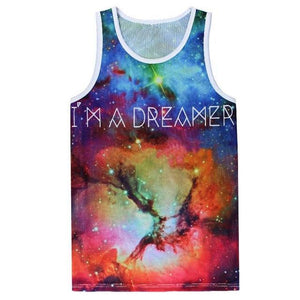 I'm A Dreamer Rainbow Galaxy Tank Top - The Hoodie Hut