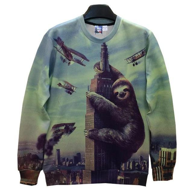 Empire State Sloth Attack Sweater - The Hoodie Hut