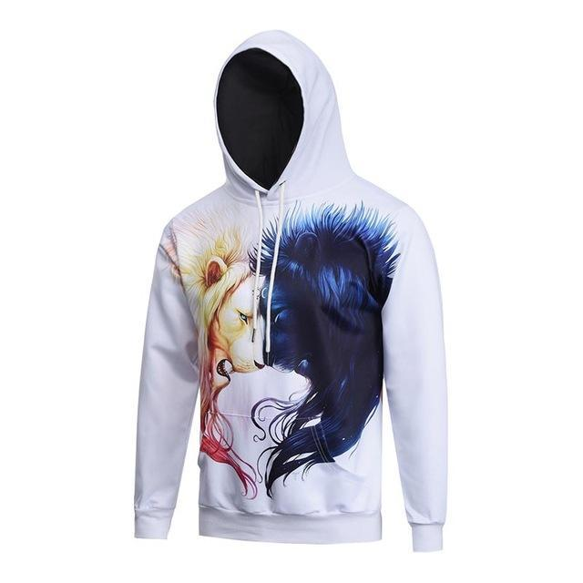 Darkness and Light Lion Hoodie - The Hoodie Hut