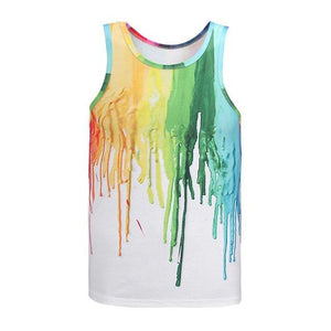 Rainbow Splash Tank Top - The Hoodie Hut