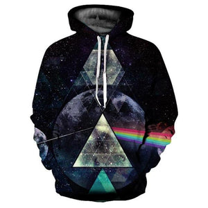 Rainbow Light Refraction In Space Hoodie - The Hoodie Hut